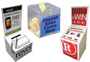 ballot boxes, lead boxes, suggestion boxes