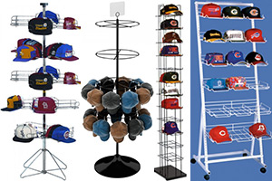 Floor Hat Baseball Cap Display Racks