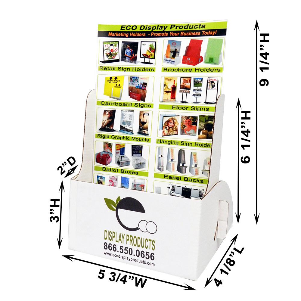 Cardboard Brochure Display Printed For Up To 5 34 Wide Brochures
