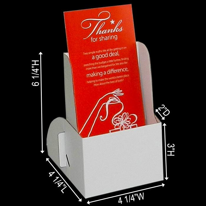 cardboard brochure holder
