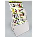 4 1/4w x 6 1/4h x 2d Cardboard Brochure Holder: White