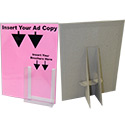 8 1/2 X 11 Display: Kraft w/Cover & Brochure Pocket