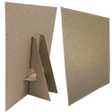 8 1/2 x 11 Cardboard Easel Display: Kraft Double Wing