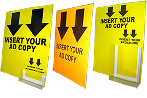 Cardboard Easel Signs With Pockets