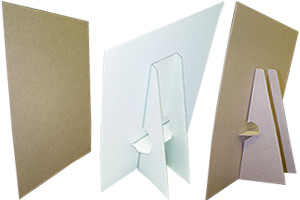 White & Kraft Easel Displays