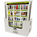 9 1/4w x 11h x 2d Cardboard Magazine Holder: 1 Label