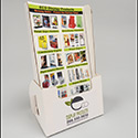 5 X 9 X 2 Cardboard Leaflet Holder: 1 Label
