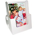 8 3/4w x 11h x 4 1/4d Cardboard Magazine Display: Holds Thicker Publications