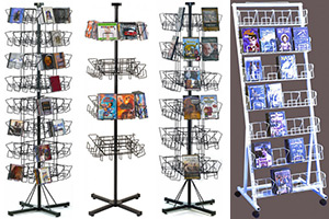 Floor CD/DVD Display Racks
