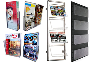 acrylic wall brochure holders