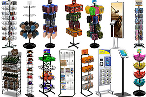 Floor Standing Retail Store Fixtures & Merchandising Displays