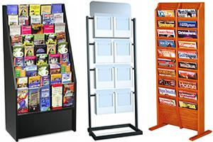 counter top floor standing literature holders - Rack Card Holders
