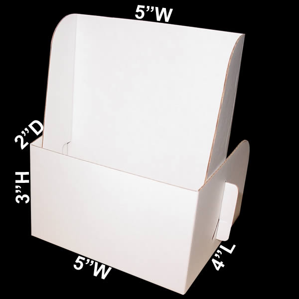 Cardboard literature holder holds 5quot x 9quot literature pamphlets for Cardboard brochure holder