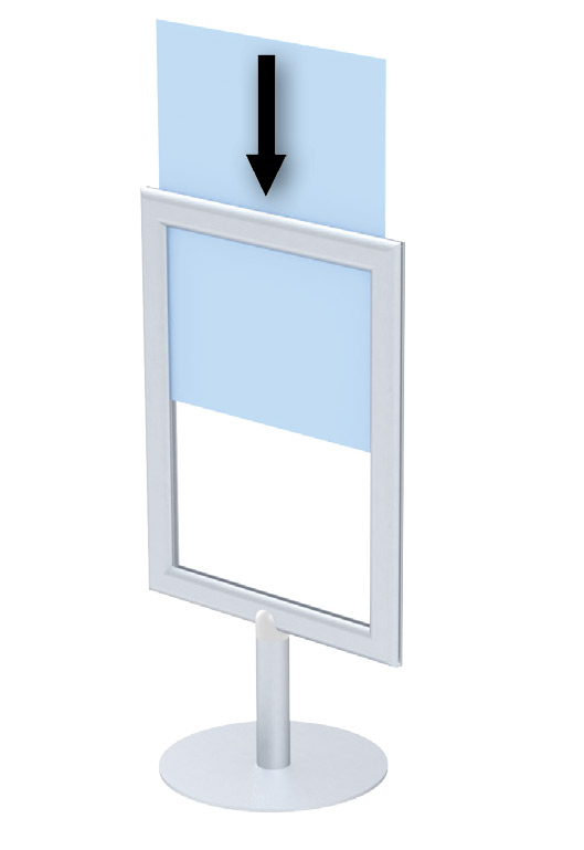 Tabletop Metal Sign Holders | Vertical Sizes: 8½