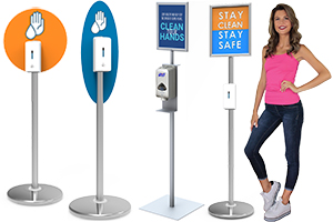 Hand Sanitizer Dispensers & Stands