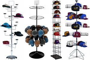 Floor Hat, Cap Display Racks