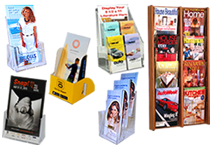 literature holders and displays