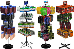 Floor Peg & Hook Spinner Racks