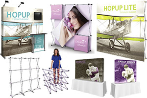 Popup Exhibits & Backdrop Walls & Connectors