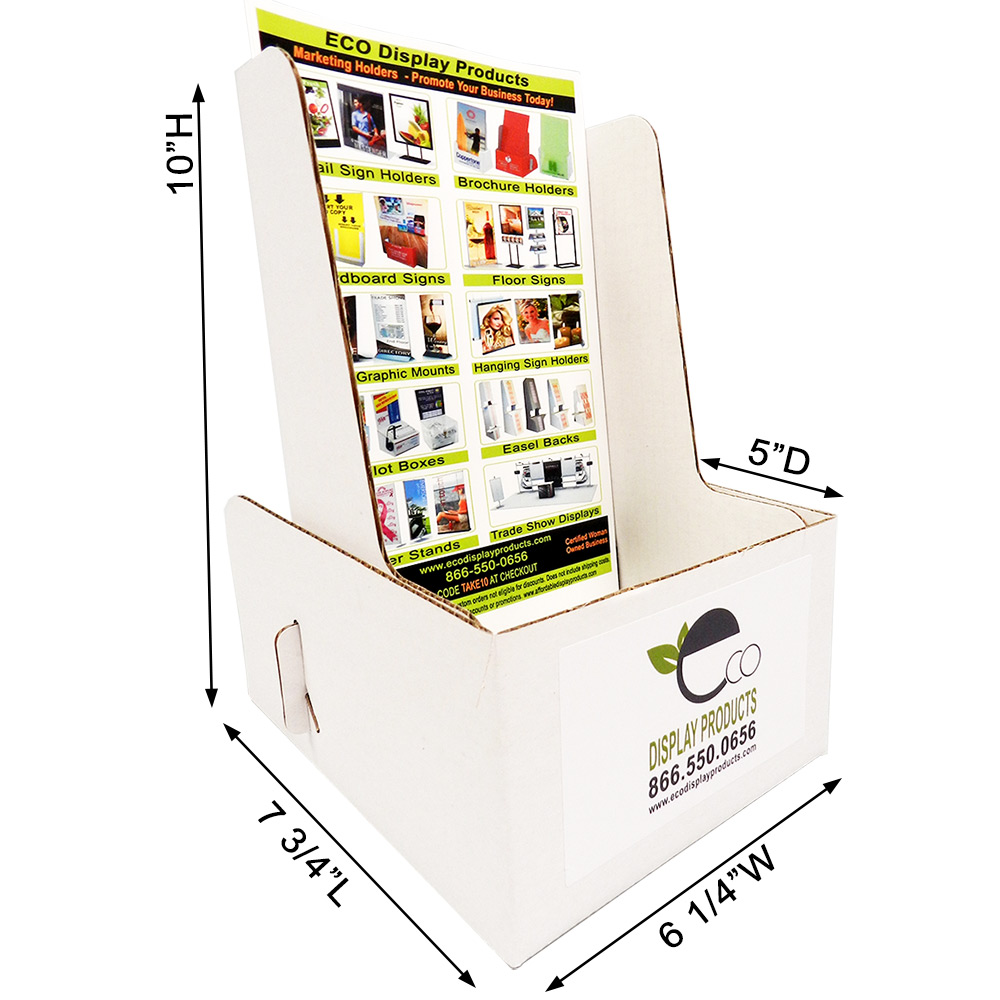 Cardboard Booklet Holder with Color Labels   Extra Deep & Cheap