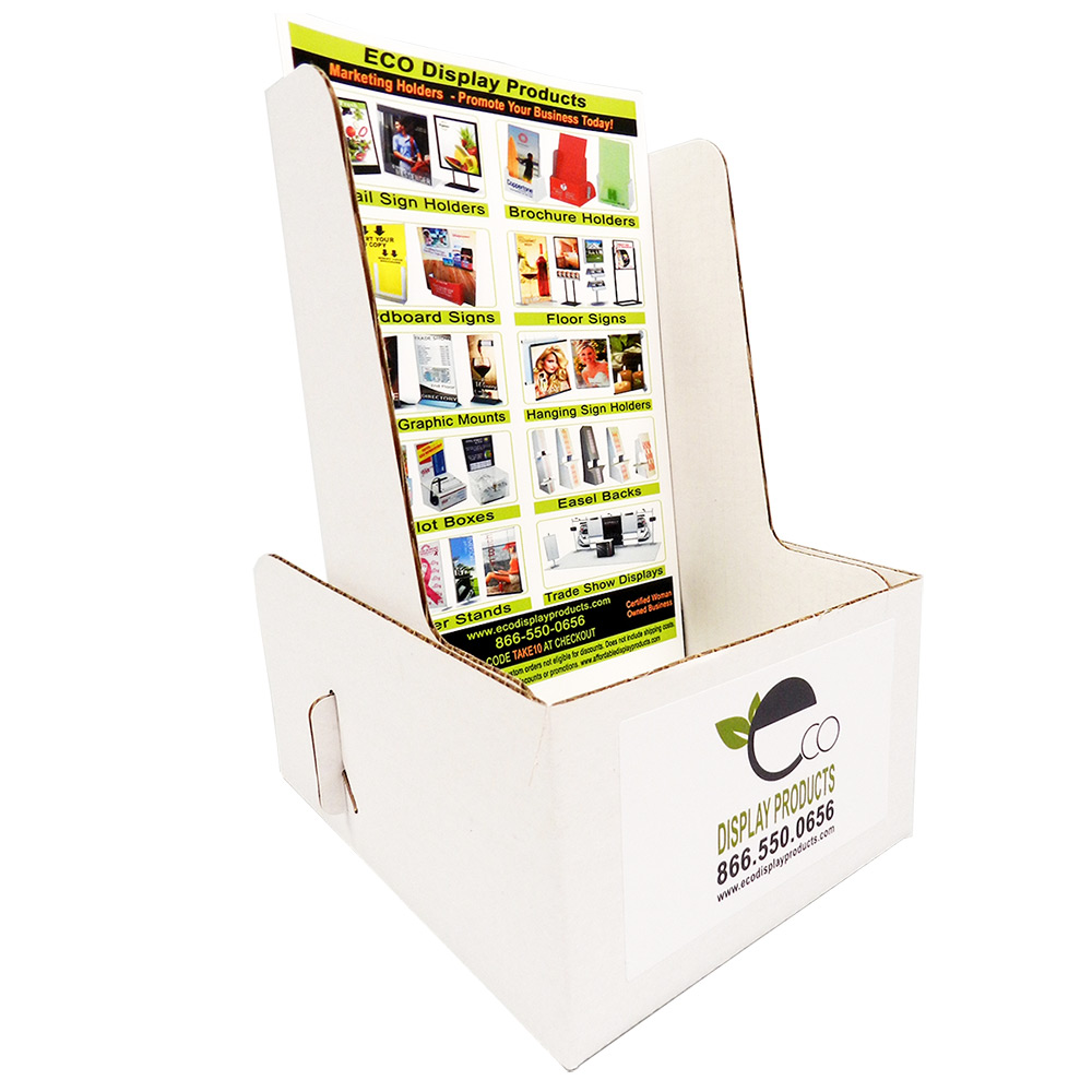 Cardboard Booklet Holder with Color Labels - Extra Deep & Cheap