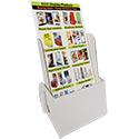 "4 1/4""w x 6 1/4""h x 2""d Cardboard Brochure Holder: White"