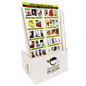 6 1/4 x 10 x 2 Cheap Brochure Holder: 1 Label