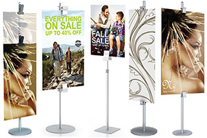Sign Clamp Stands  For Rigid Signs
