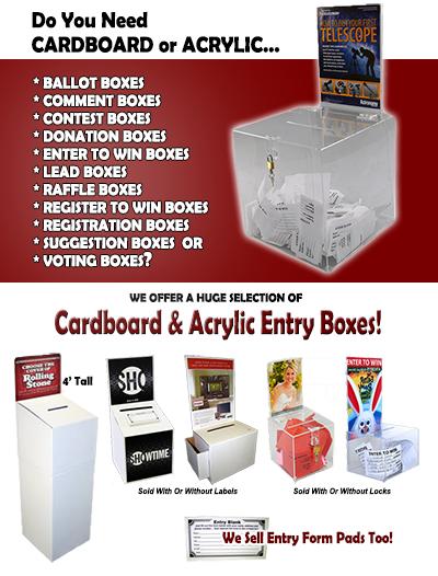 Ballot Boxes | Lead Boxes | Raffle Boxes | Contest Boxes