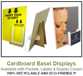 Click to view Cardboard Easel Displays