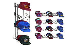 Slat Wall, Grid Wall, Pegboard Baseball Hat Racks