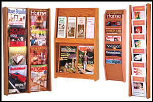 Wood Wall Literature Racks